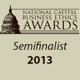 National Capital Business Ethics Awards Semifinalist 2013