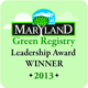 Maryland Green Registry Leadership Award Winner 2013