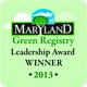 Maryland Green Registry Leadership Award Winner 2013