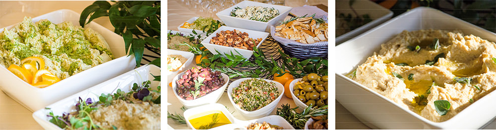 Mezza Station at Josephine Butler Parks Center - Catering by Seasons