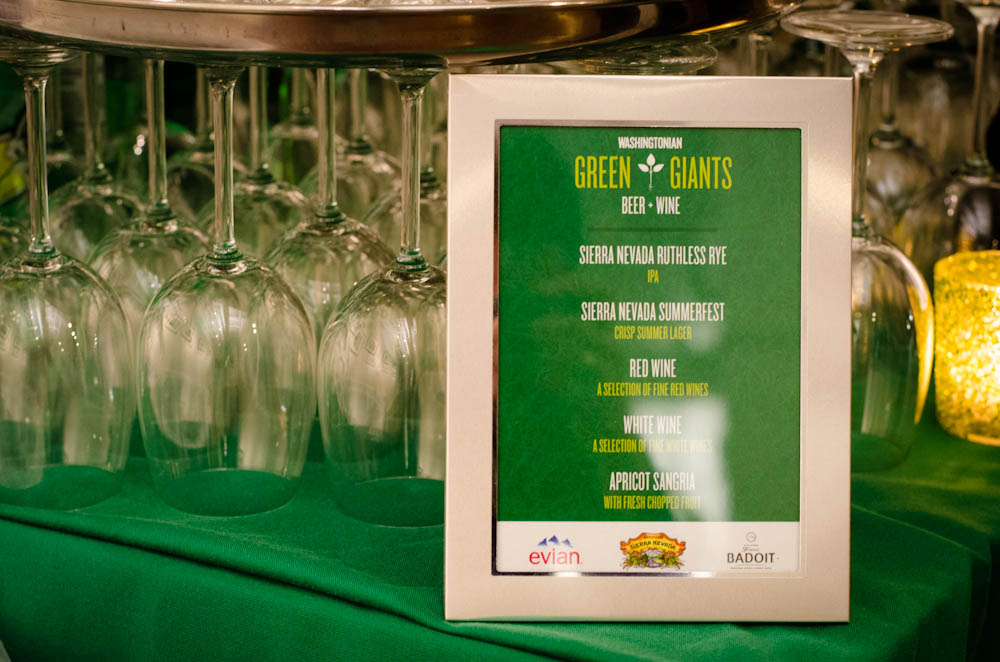 Washingtonian Green Awards - Specialty Drinks with Catering by Seasons