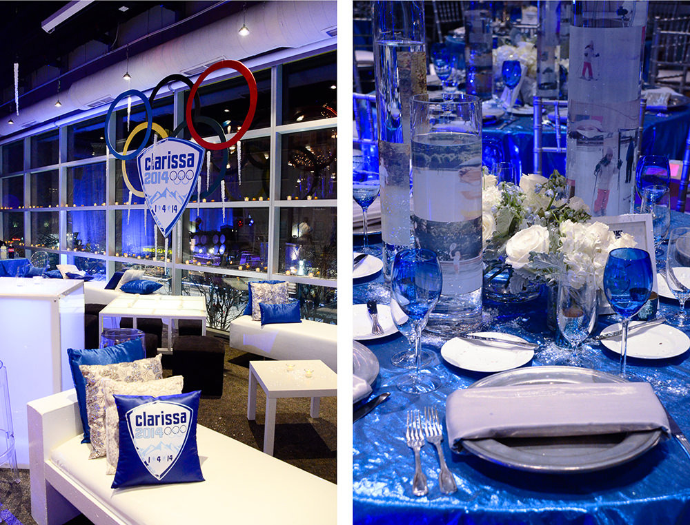 Winter Olympics-themed Bat Mitzvah - Catering by Seasons