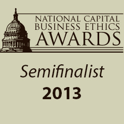 National Capital Business Ethics Award - Semifinalist 2013