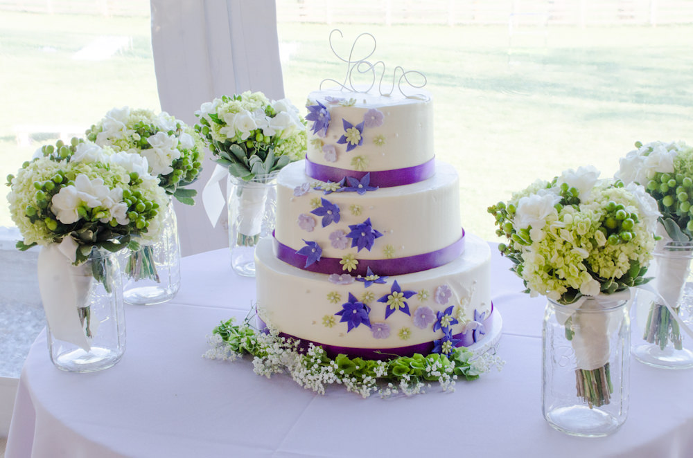 Wedding Cake with Catering by Seasons - at Walker's Overlook