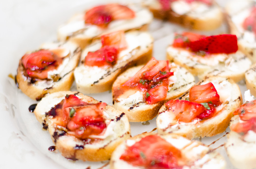 Strawberry Crostini - Catering by Seaosns