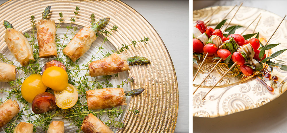 Asparagus Puff Pastry and Caprese Skewers - Hors D'oeuvre from Catering by Seasons