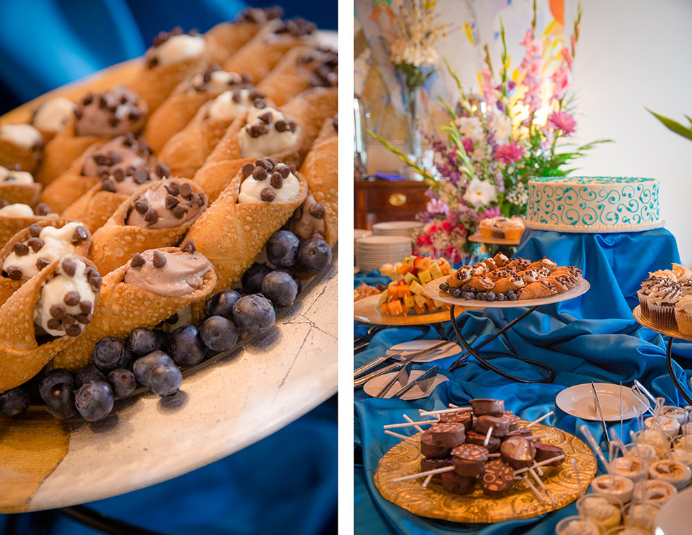 Cannolis and Gourmet Wedding Desserts - Catering by Seasons