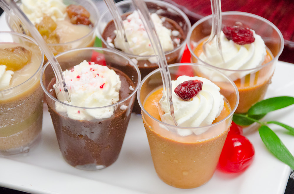 Holiday Dessert Shots - Catering by Seasons