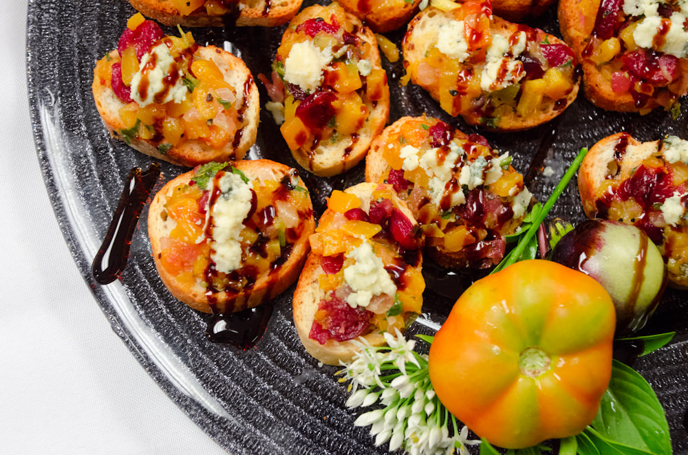 Butternut Squash and Cranberry Bruschetta - Catering by Seasons