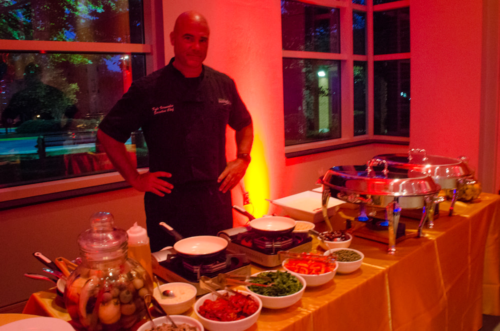 Chef Kyle Vermeulen at Live Pasta Bar - Catering by Seasons