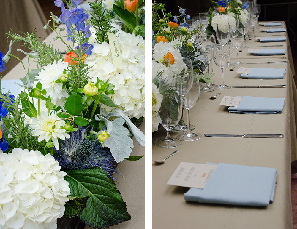 Blue Wedding Tablescape - Catering by Seasons