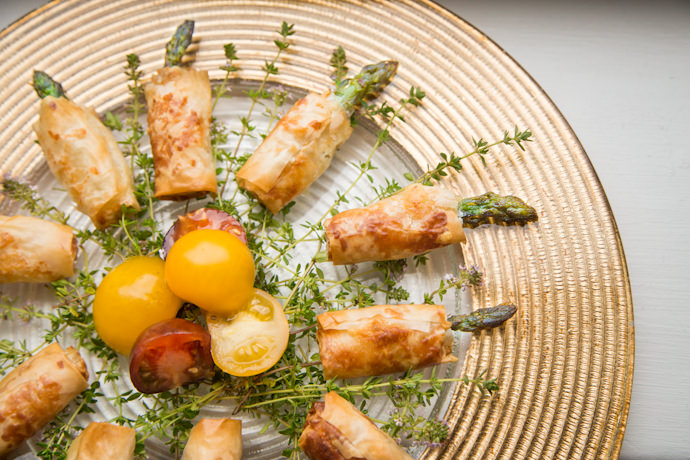 Asparagus and Brie in Puff Pastry