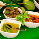 Mediterranean Mezza Station with Vegetarian Favorites