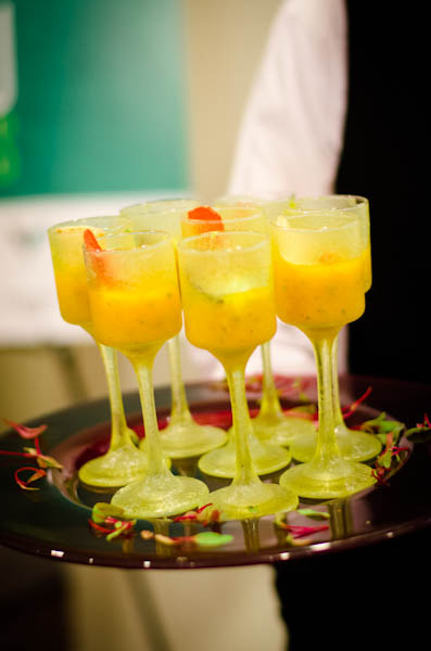 Golden Gazpacho Shooters