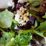 Beet Salad with Pine Nuts and Feta