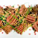 Southwestern Seared Tuna atop Quinoa