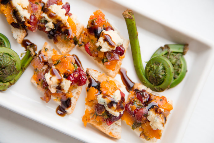 Cranberry and Butternut Squash Bruschetta