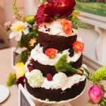 Deconstructed Wedding Cake with Fresh Flowers
