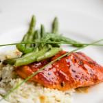 Pomagranate Roasted Salmon Entree