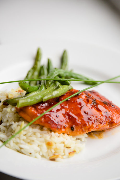 Pomagranate Roasted Salmon Entree