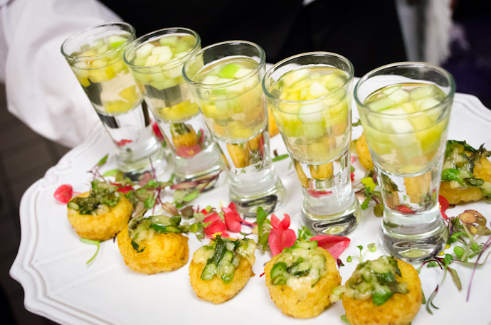 Risotto Cakes paired with Apricot Sangria