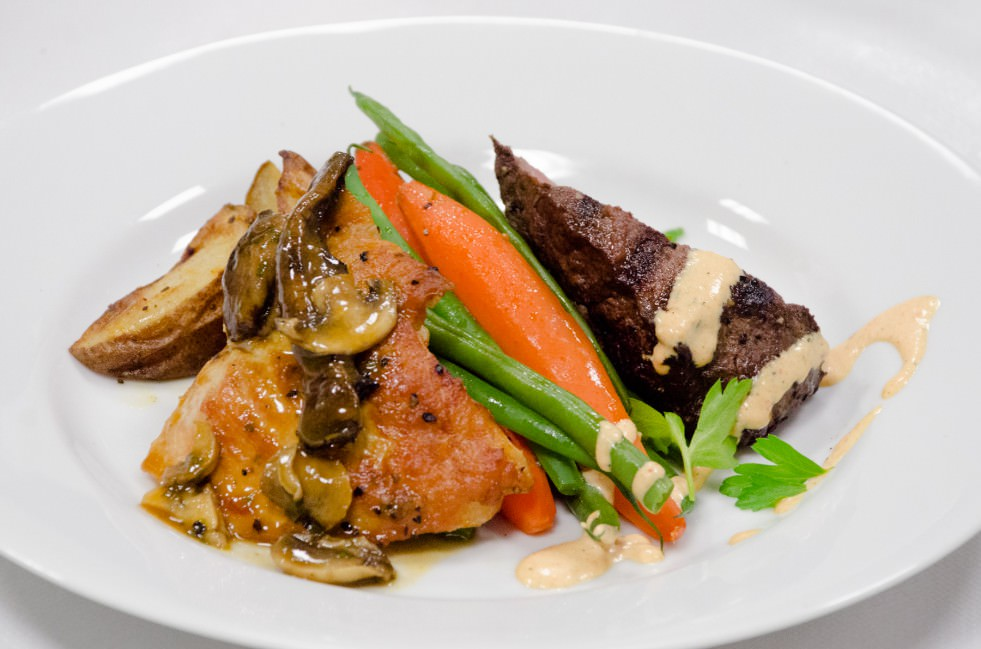 Plated Dual Entree at Visarts Rockville - Catering by Seasons (1 of 1)