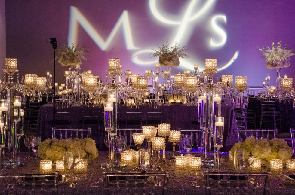 Black and White Wedding Decor - Catering by Seasons at Visarts Rockville