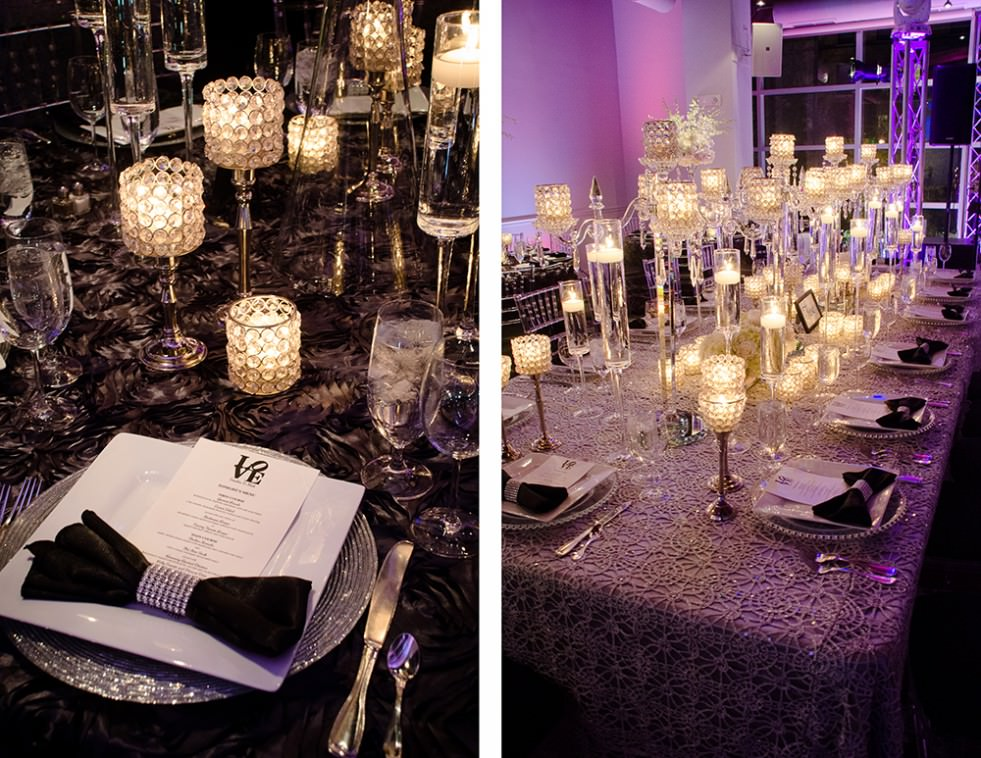 Black and White Wedding with Catering by Seasons at Visarts Rockville