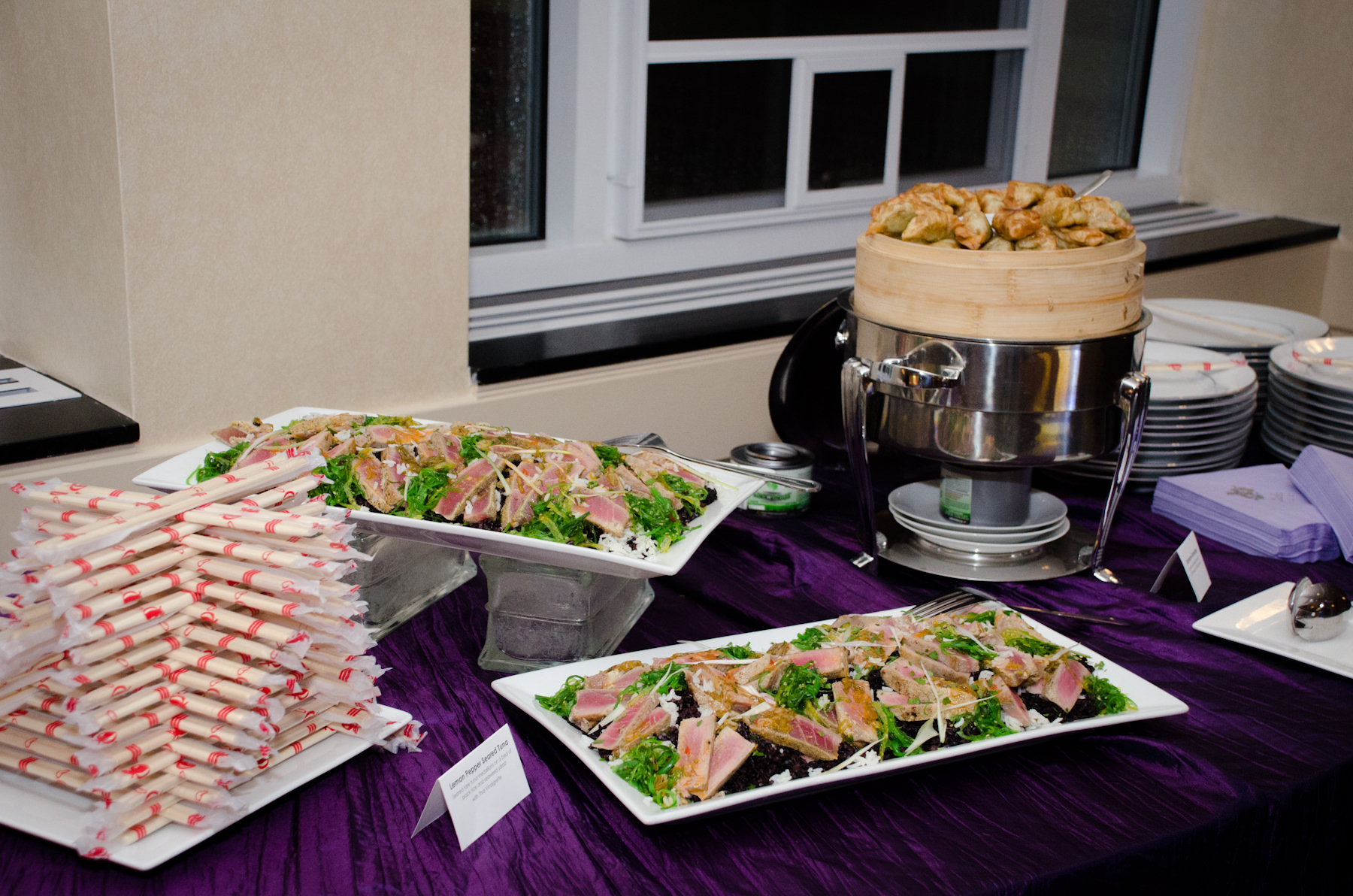 Asian Fusion Station from Catering by Seasons at Wheaton-Glenmont Ballroom