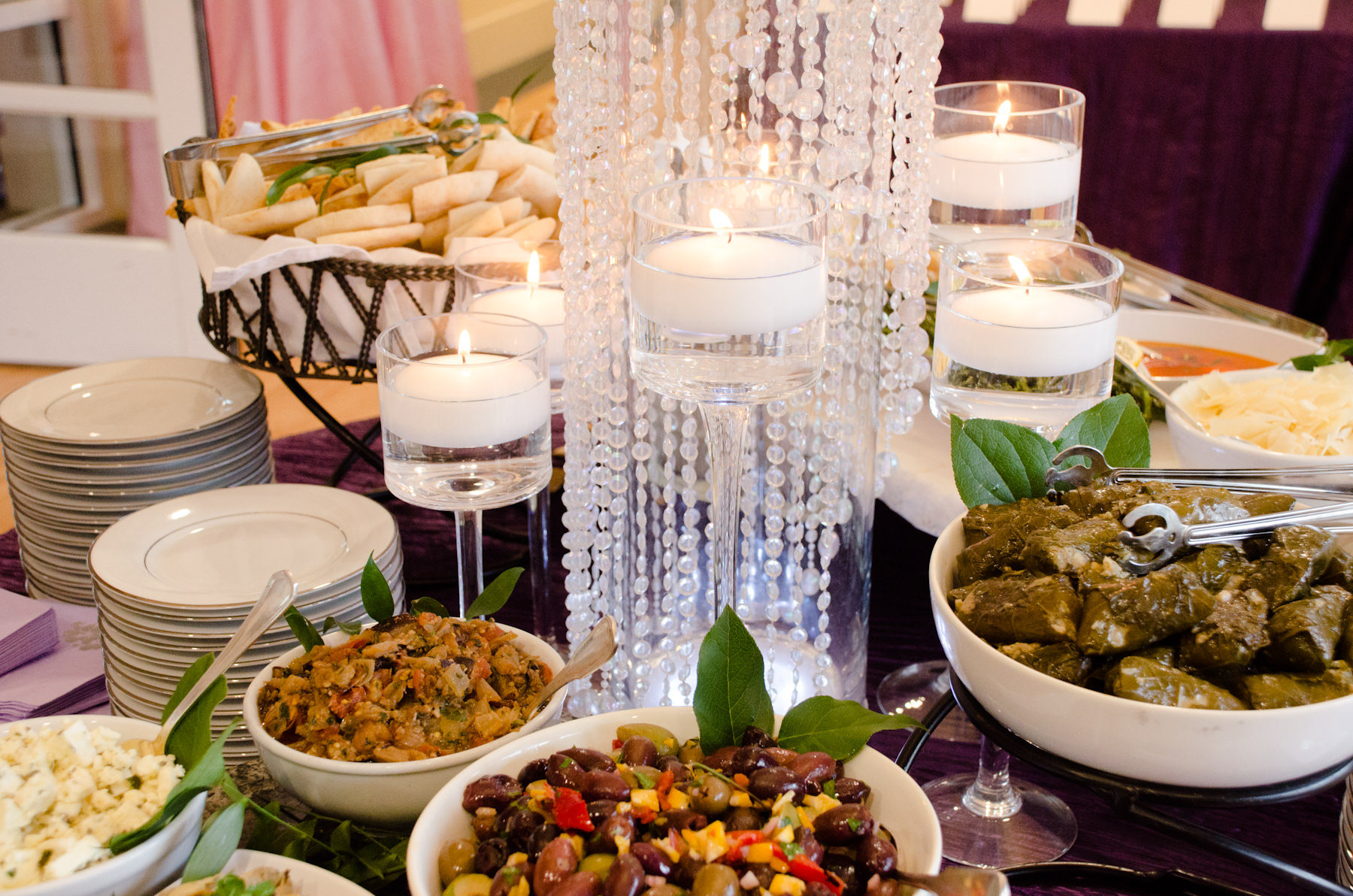 Mezze Station from Catering by Seasons at Bat Mitzvah