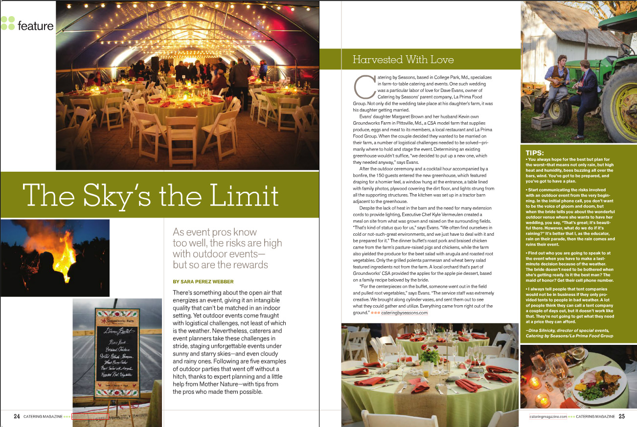 Catering Magazine - Catering by Seasons
