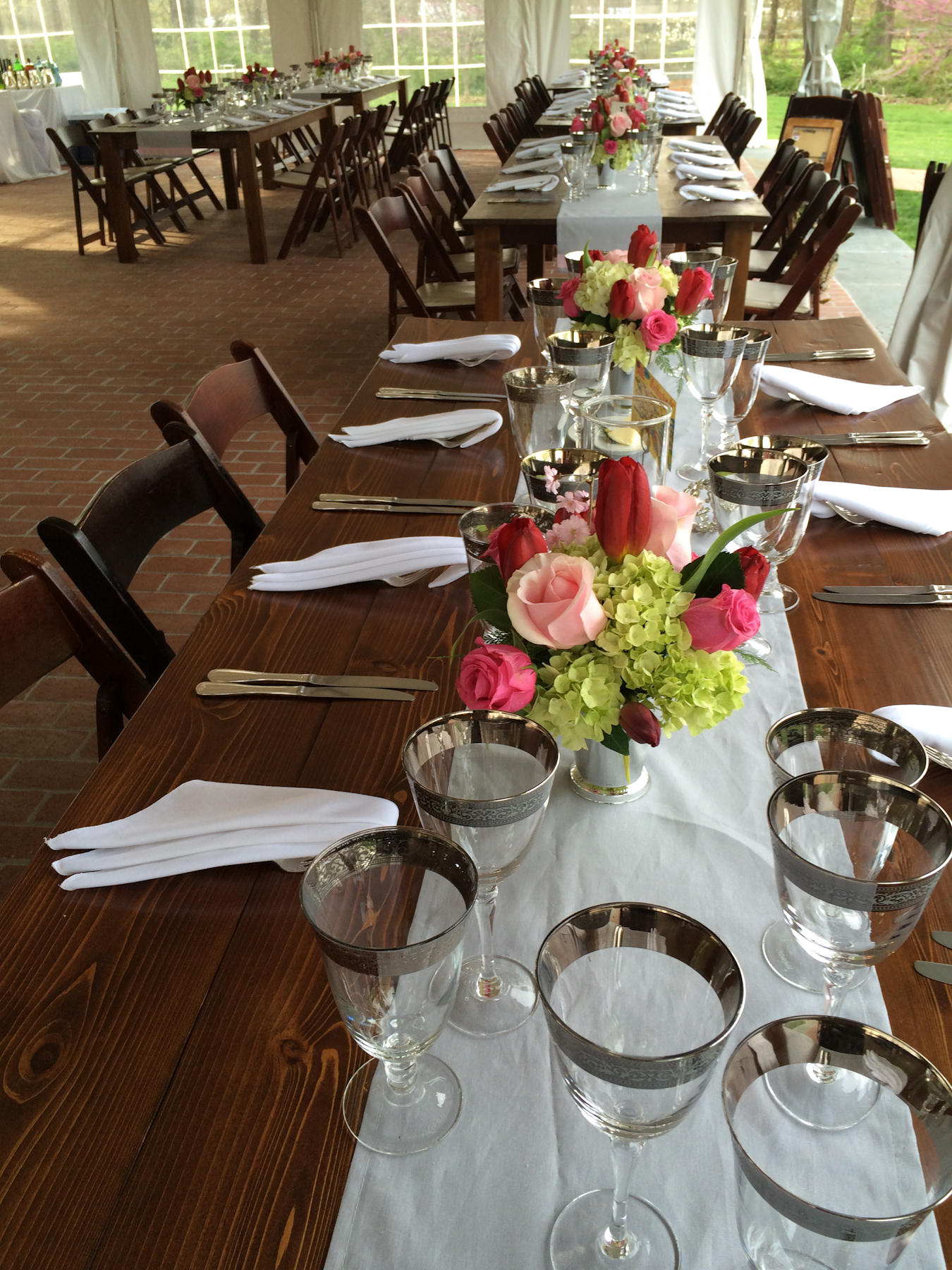 Rustic Wedding Farm Tables - Catering by Seasons